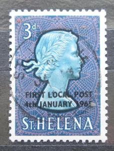 Svatá Helena 1965 Královna Alžběta II. přetisk Mi# 164 2033