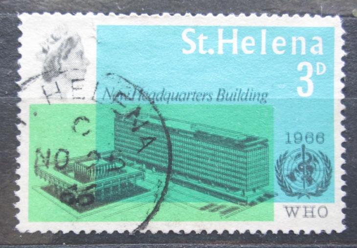 Svatá Helena 1966 Budova WHO v Ženevě Mi# 177 2033 - Filatelie