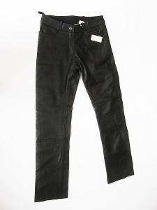 Kožené kalhoty dámské HIGHWAY- vel. M/38, pas: 78 cm