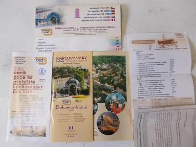 Mapa bedekr průvodce Karlovy Vary ceník lázní pobyt léčba Menu dieta