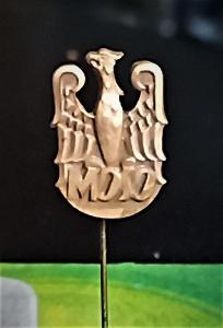 Odznak: MOSO - POLSKÁ ORLICE ? (z nalezené, 50 let staré sbírky !!!)