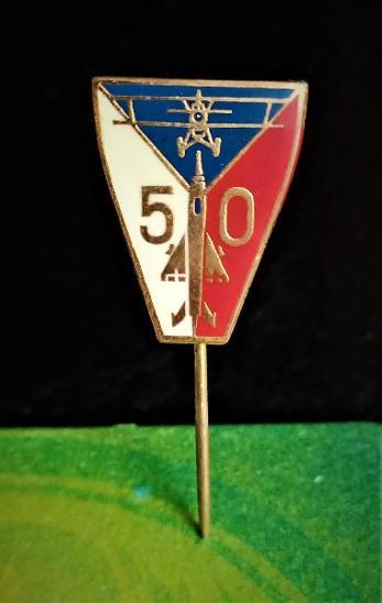 Odznak 50 LET - LETECTVÍ ? (z nalezené, 50 let staré sbírky) - Faleristika