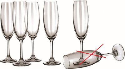 MAISON FORINE - sada sklenic Crystal Leona flétna 210 ml - Nekompletní