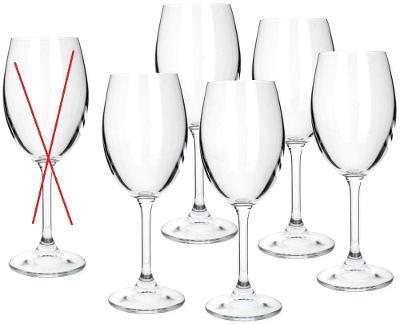 MAISON FORINE-Crystal Leona sklenice na bílé víno, 340ml- Nekompletní