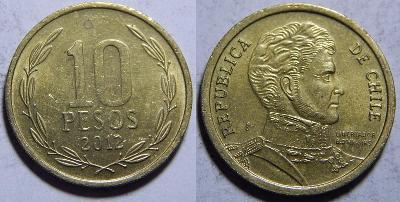 Chile 10 Pesos 2012 XF č31353