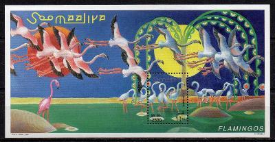 Somálsko-Plameňáci 1998**  Michel Bl.56 / 7 €