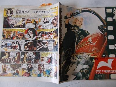Časopis Svět v obrazech motorka Harley Davidson Komiks Černá Světice