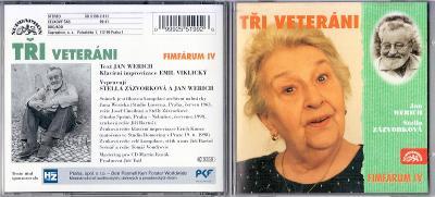 CD Jan Werich - Tři veteráni (1998) mluvené slovo