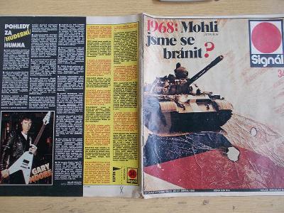 Starý časopis Signál 1968 okupace obrana armáda Poloczek Rychlé Šípy