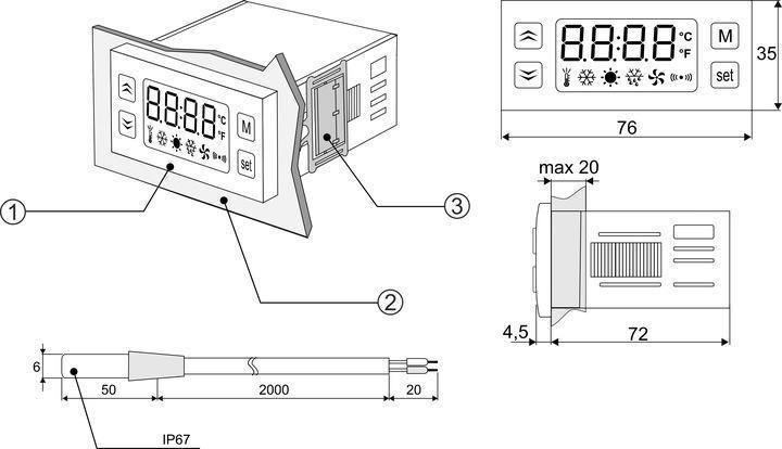 Digitální termostat ESCO ES-10 Regulátor teploty, univerzální s funkcí - Stavebniny