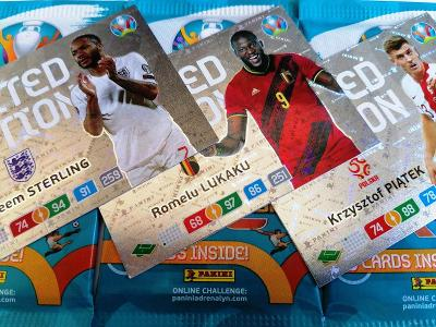 Fotbalové karty UEFA Euro 2020 Adrenalyn XL : Sada 3 + 3 LIMITED !