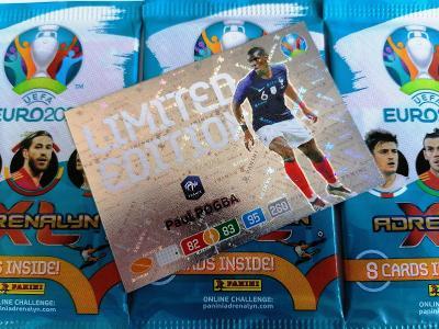 Fotbalové kartičky UEFA Euro 2020 Adrenalyn XL : Sada 3 + 1 LIMITED !