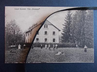 Blansko Opatovice Lázně Routské Vila Svornost pohlednice