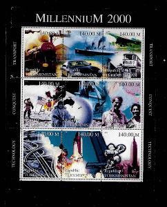 Turkmenistán-Apollo,raketoplán, loko,lodě,Edmund Hillary, Robert Scott