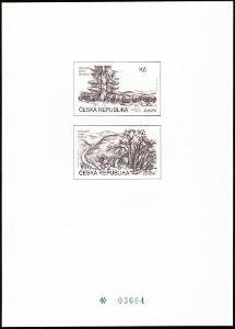 POF. PTR 7 - ČERNOTISK EUROPA CEPT 1999 Z ROČNÍKOVÉHO ALBA (S433)