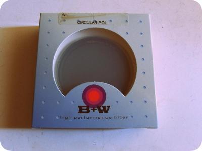 Kvalitní foto filtr - B+W - 58 - cirkulárně polarizační - doprodej