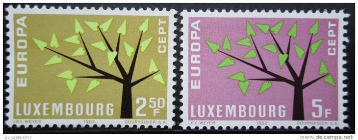 Lucembursko 1962 Evropa CEPT Mi# 657-58 0857
