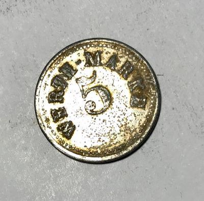 Žeton 5 Werth Marke