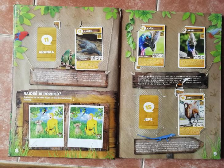 Hrátky se zvířátky sběratelské album s kartičkami  - Ostatní