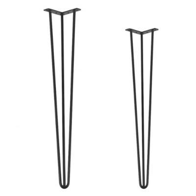 Kovové Hairpin Nohy Podnože 3 ramena, 2 rozměry DIY, Výška 70 cm