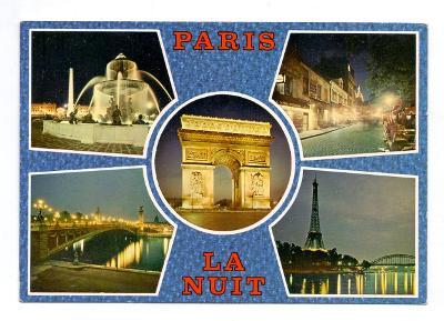 PAŘÍŽ V NOCI  # POHLEDNICE