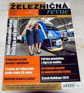 ŽELEZNIČNÁ REVUE 2/2014 ČASOPIS ŽELEZNICE ČSD ŽSR VLAK KOLEJE LOKOMOT