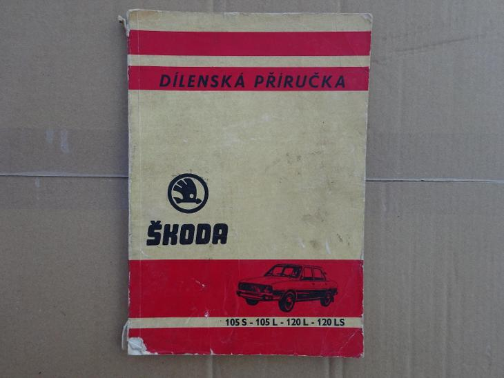 Dílenská příručka na Škoda 105/120 + leták - Příslušenství k veteránům