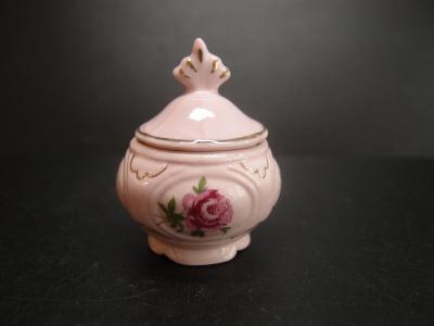 cukřenka růžový porcelán - pro panenky