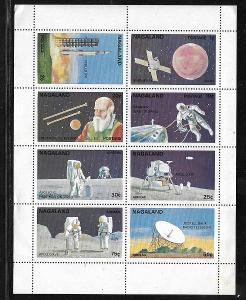Indie-Nagaland...KOSMOS - Galileo, Apollo,Gemini, Mariner,Jodrell Bank