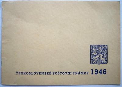 ČSR - ROČNÍKOVÉ ALBUM - ČSL. POŠTOVNÍ ZNÁMKY 1946 (S465)