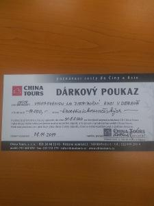 Dárkový poukaz od CK China Tours