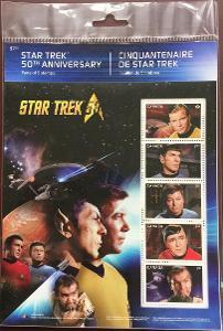 Star Trek Aršík známek Kanada 2016 (rozebrané)