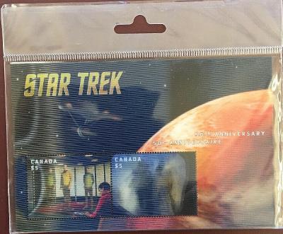 Star Trek Aršík známek Kanada 2016 (s pohybovým efektem)