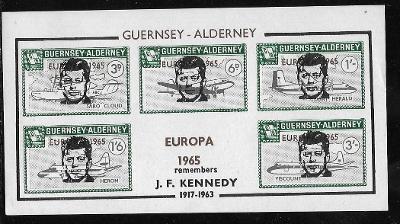 Guernsey - EUROPA 1965, Kennedy, letadlo