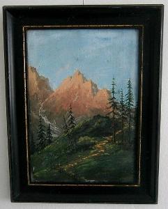Krajina v horách (olej)