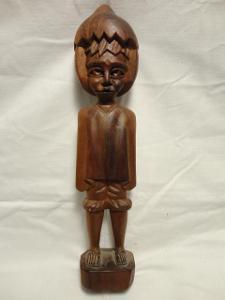 Soška  Orient - v. 30 cm - dřevo - stará!!!
