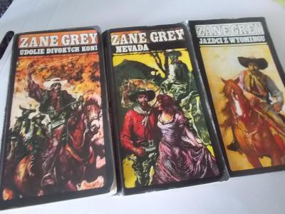 Zane Grey - sada 3 knihy ve slovenštině, slovensky