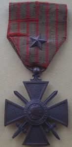 Croix de Guerre1914-1916 citace HVĚZDA, Francie, legie