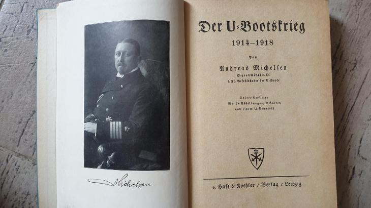 Ponorková válka 1914-1918-německá-mapa-super kniha - Vojenské