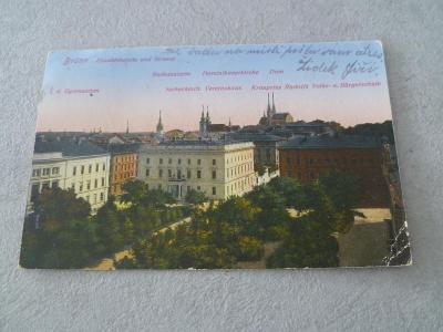 Pohlednice Starý pohled R.U.Sbírka Brno Kostel   Nádraží Náměstí Top