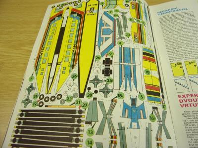 Papírový model z ABC  dvourotorový vrtulník JA 018 + časopis