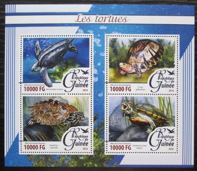 Guinea 2016 Želvy Mi# 11666-69 Kat 16€ 2083