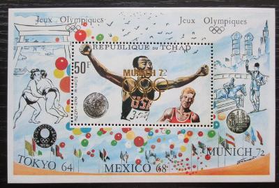 Čad 1972 LOH Mnichov přetisk RARITA Mi# Block 40 Kat 48€ 2083