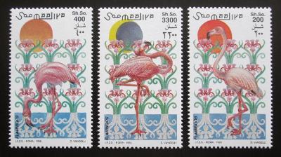 Somálsko 1998 Plameňáci Mi# 726-28 Kat 12€ 2084