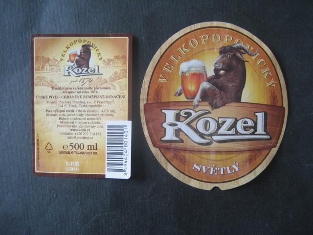 Pivní etiketa Kozel použitá - Nápojový průmysl