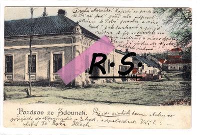 Zdounky 1905 - Kroměříž , obchod , pošta  , /FX/