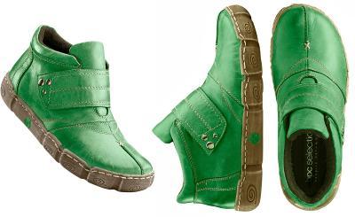 Nové kožené kotníčkové boty na suchý zip bpc v. 35/36 (23 cm)