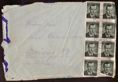 ČSR - MĚNOVÁ REFORMA - DOPIS ZASLANÝ 6.VI.1953, VYPLAC. 30 KČS (S546)