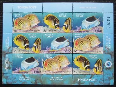 Tonga 1998 Ryby Mi# 1536-38 Bogen Kat 14€ 2104