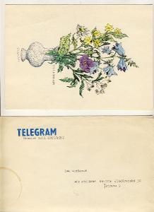 TELEGRAM s obalkou ca. 1956 spatne sehnatelne  vzacne